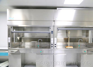 Cupboard Vents Table Top Fume Hood 0.3-0.8m/s Inflow Air Velocity With Island Lab Bench