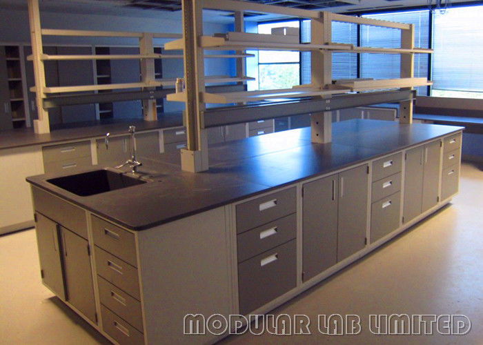 Steel Lab Systems Science Classroom Furniture Dark Grey For University Research