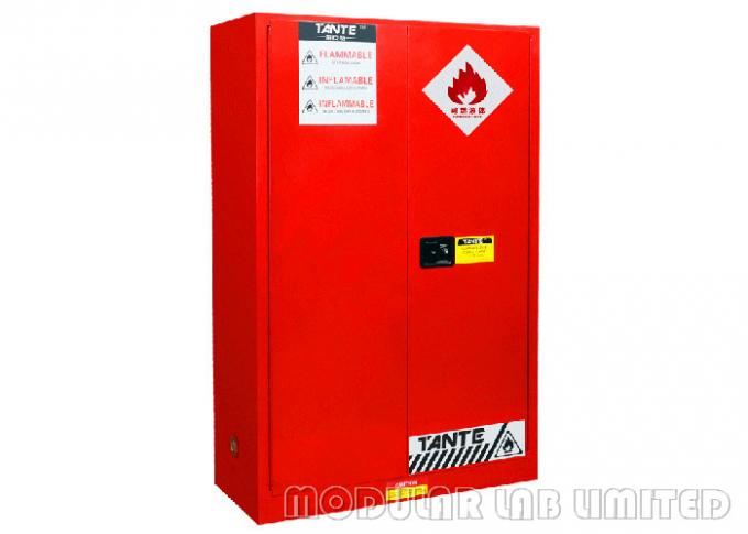 Weight 138KG Flammable Storage Cabinet Three Point Inter - Active Locking System