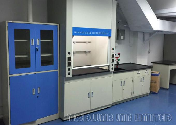 School Laboratory Walk In Fume Hood 800W With Toughened Glass Front Windows