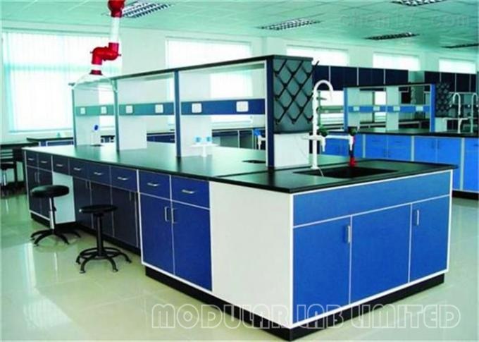 C / H Type Frame Chemistry Lab Bench / Laboratory Workbench Furniture