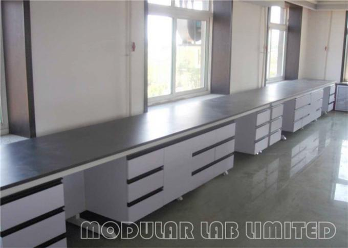 Painted Steel Stainless Steel Laboratory Modular Furniture Phenolic Resin Top